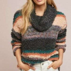 Moth Anthropologie S Murray Striped Sweater Cowl